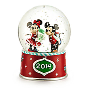 Mickey and Minnie Mouse 2014 Snowglobe - Holiday