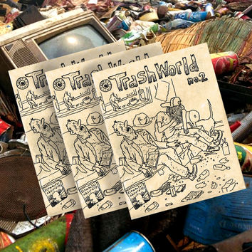 TRASH WORLD COMIX #2 BY TIM ROOT