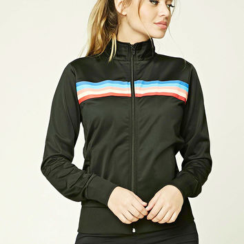 Rainbow Stripe Track Jacket
