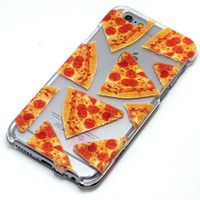 Pizza Slice Pattern Pepperoni Henna Style Phone Case iPhone 6, 6 Plus, 5, 5C, 5S, Galaxy S4, S5, S6, Note 4
