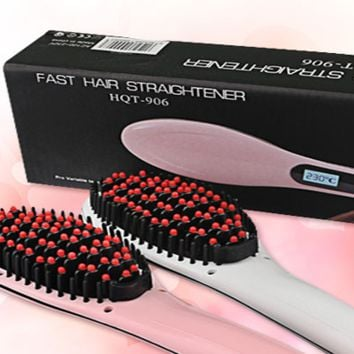 Hair Straightener Brush Assorted Color