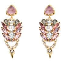 Lizzie Fortunato Palace Earrings - Pink & Gold Drop Earrings - ShopBAZAAR