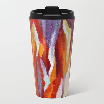 Flames Metal Travel Mug by mariameesterart