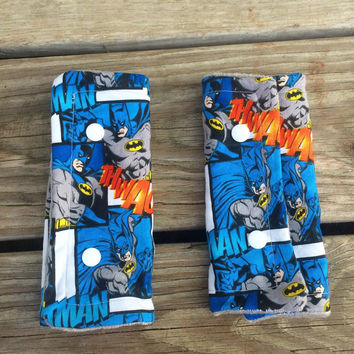 Batman seat belt cover, high chair strap cover, stroller cover, batman, superheros, dc comics
