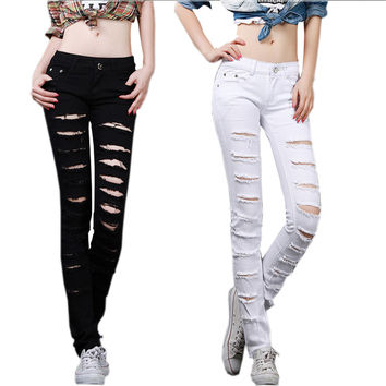 Denim Cut-Out Skinny Jeans