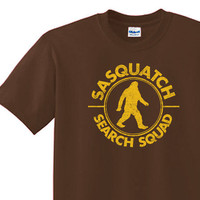 SASQUATCH T-shirt all sizes, American apparel Also available on crewnecks and hoodies