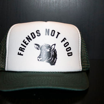 Friends not food trucker hat. This is a cool vegetarian inspired hat