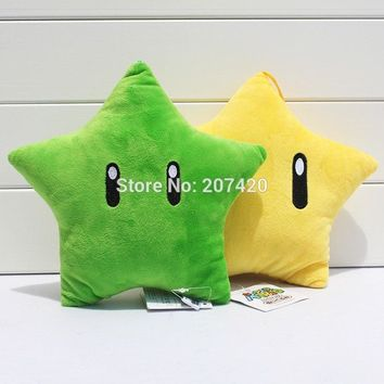 Super Mario party nes switch 8'' 20cm  Galaxy Star Soft Plush Toy Stuffed Doll Throw Pillow AT_80_8