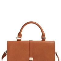 Women's Sole Society Vegan Leather Crossbody Satchel - Brown