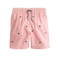 crewcuts Boys Oxford Cloth Swim Trunk With Turtles