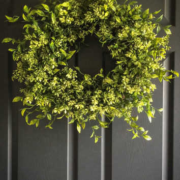 WREATHS - Boxwood Wreath - Spring Wreath - Summer Wreaths - Mothers Day Wreath Gift - Front Door Wreaths - Wreaths for Door