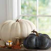 Outdoor Halloween Faux Pumpkin