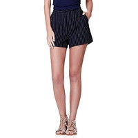 LE3NO Womens Classic Lightweight High Waisted Sailor Shorts with Pockets