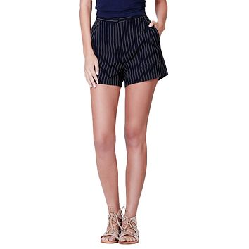 Classic Lightweight High Waisted Sailor Shorts with Pockets