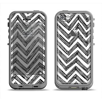 The Sketch Black Chevron Apple iPhone 5c LifeProof Fre Case Skin Set