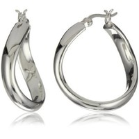 Argento Vivo Organic Wavy Hoop Earrings