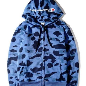 Champion' Couple Hoodies Hats Camouflage Jacket