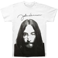 John Lennon Men's  John Lennon Face Subway T-shirt White