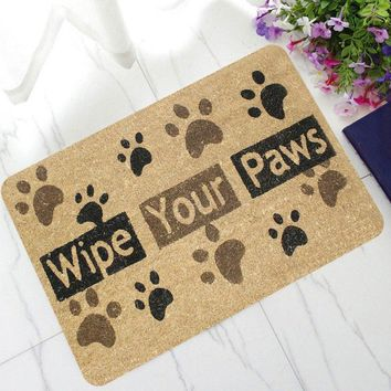 Autumn Fall welcome door mat doormat Welcome  Entrance Front Letter Printed Floor Mat Home Kitchen Carpet Decor  Non-Slip Dirt Trapper Rug AT_76_7