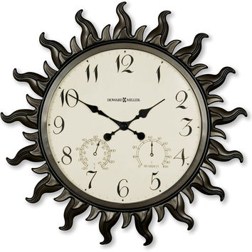 0-003273>Sunburst II Wall Clock Metal with Powder Coated Case