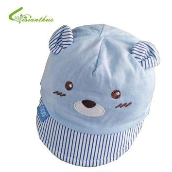 PEAP78W Newborn Baby Baseball Hat Spring Summer Outdoor Bucket Hat Infant Cute Cartoon Bear Cap Beach Cap Baby Girls Boys Sun Hats 0-4M