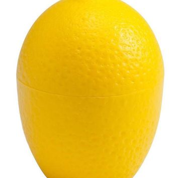 ICIK272 Lemon / LimeSaver Plastic See Through  Container Holder  - Bulb Shaped Fresh and Moist Storage -Assorted