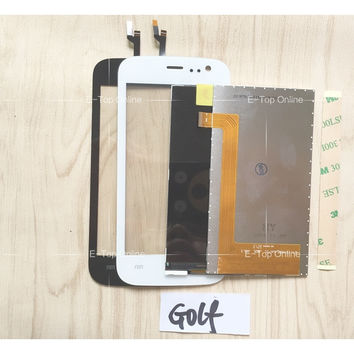 Black/White Screen For Explay Golf Touch Screen Digitizer Sensor Screen LCD Display Screen + 3M Sticker With Tracking