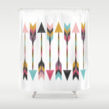 Bohemian Arrows Shower Curtain by Bohemian Gypsy Jane | Society6