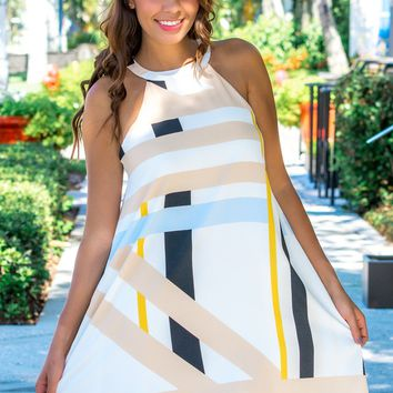 By Your Side Abstract Print Dress - Simply Me Boutique – Simply Me Boutique