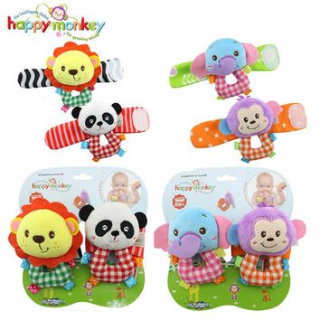 Baby Toy 0-12 Month Infant Socks Bug Wrist Strap Band Soft Kawaii Stuffed Plush Animal Rattle Cot Moblie Doll For Newborn Babies