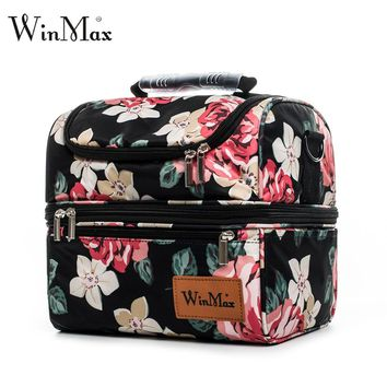 Winmax Brand Thicken Nylon Cooler Lunchbox Insulated Thermal Food Fresh Wine Picnic Tote Handbags Men Women Cooler Bag Lunch Bag