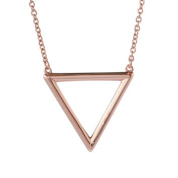 Triangle Rose Gold Vermeil Necklace