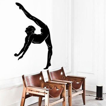 Wall Decals Girl Gymnast Sport Gymnastics People Home Vinyl Decal Sticker Kids Nursery Baby Room Decor kk507