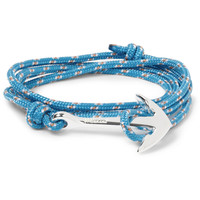 Miansai - Rope and Silver-Plated Anchor Bracelet | MR PORTER