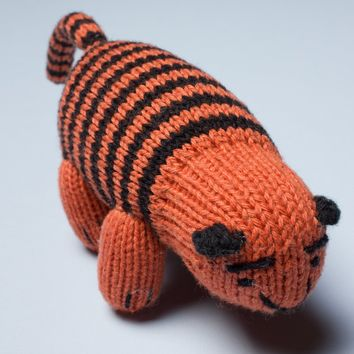 Organic Tiger Rattle Baby Toy