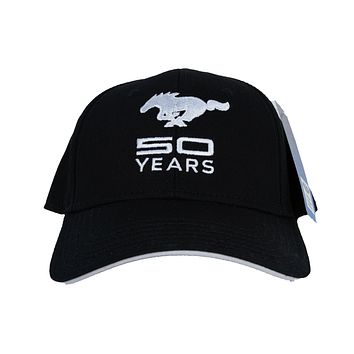 Ford Mustang Hat 50th Anniversary Embroidered Cap