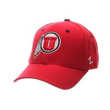 Licensed Utah Utes Official NCAA DHS Size 7 Fitted Hat Cap by Zephyr 622575 KO_19_1