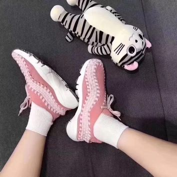 2018 Original NIKE Wmns Air Footscape Woven Vintage Retro jogging shoes