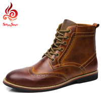 Brogue Boots / Split Leather Boots