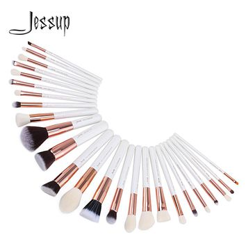 2017 Jessup Brushes 25pcs Professional Makeup Brushes Set Makeup Brush Tools kit Foundation Powder Blushes T215