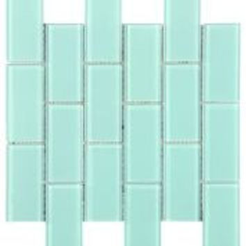 Light Blue 2X4 Subway Glass Tile