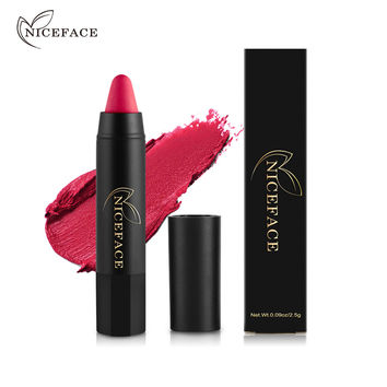 NICE FACE 24Colors Lip Stick Moisturizer Lipsticks Penceil Waterproof Long-lasting Easy to Wear Cosmetic Nude For Makeup Lips