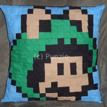 Super Mario Brothers Frog Mario pillow by punzie on Etsy