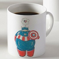 Baymax As Captain America Marvel Superhero Mug Two Sides