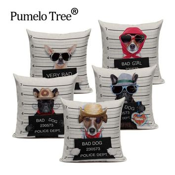 Decorative Dog Pattern Cushion Covers Pillow