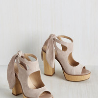 My Bold Stomping Grounds Heel in Ecru | Mod Retro Vintage Heels | ModCloth.com