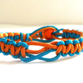 HEMP BRACELET Blue and Orange For Men and For Women