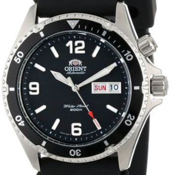 Orient Men's CEM65004B 'Black Mako' Automatic Rubber Strap Dive Watch
