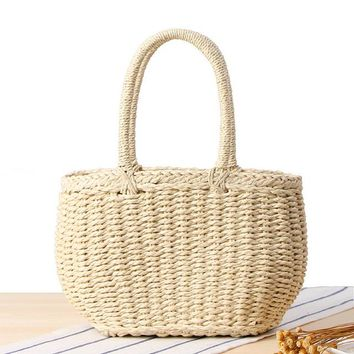 Family Friends party Board game Summer 2018 Beach Women Causal Travel Straw Bag Weave Bucket Straw Bag Grass Casual Totes Handbags Knitting Rattan Shoulder Bags AT_41_3