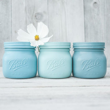 Elite mason jars, painted mason jars, wedding centerpieces, succulent vases, planter, colored jars, plant vases, indoor gardens, mason jars